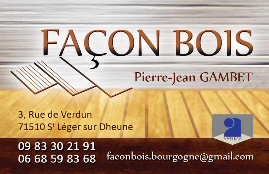 Carte De Visite Recto Facon Bois