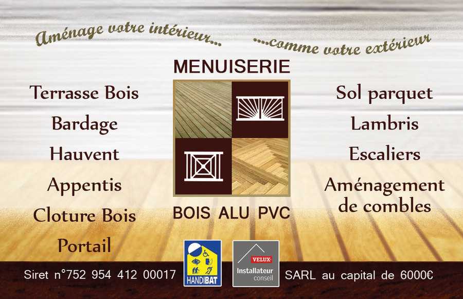 Carte De Visite Verso Facon Bois