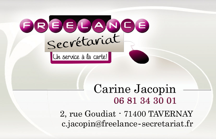 Carte De Visite Recto Freelance Secretariat